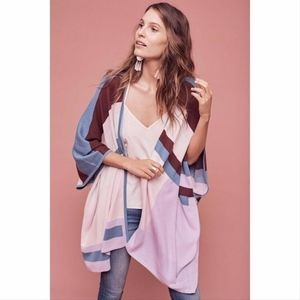 Tracy Reese Multicolor Block Poncho cardigan